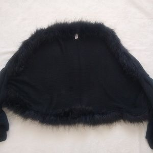 78ba62a09cb Chico s Jackets   Coats - CHICO S faux fur black cape ...